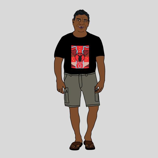 Aboriginal illustration digital character