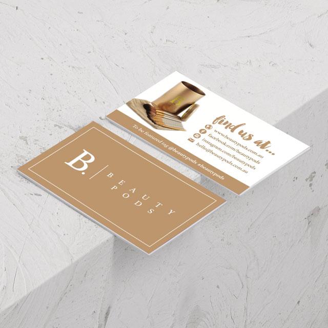 beauty pods business card design