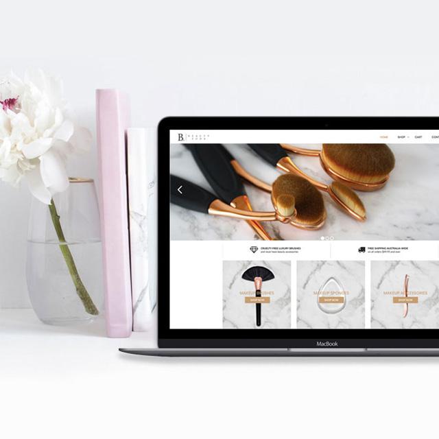 beauty pods website design