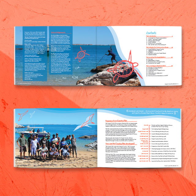 mayala country plan booklet graphic design