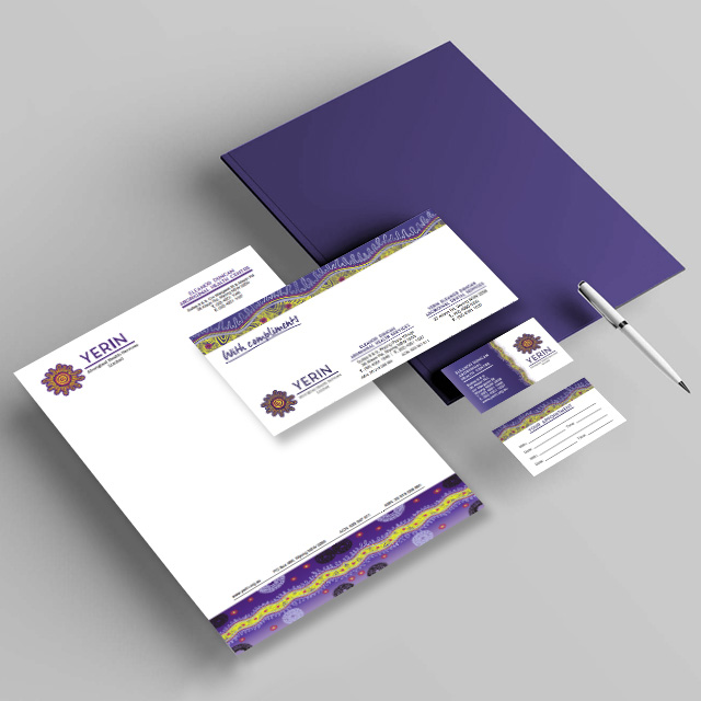 yerin aboriginal stationery graphic design