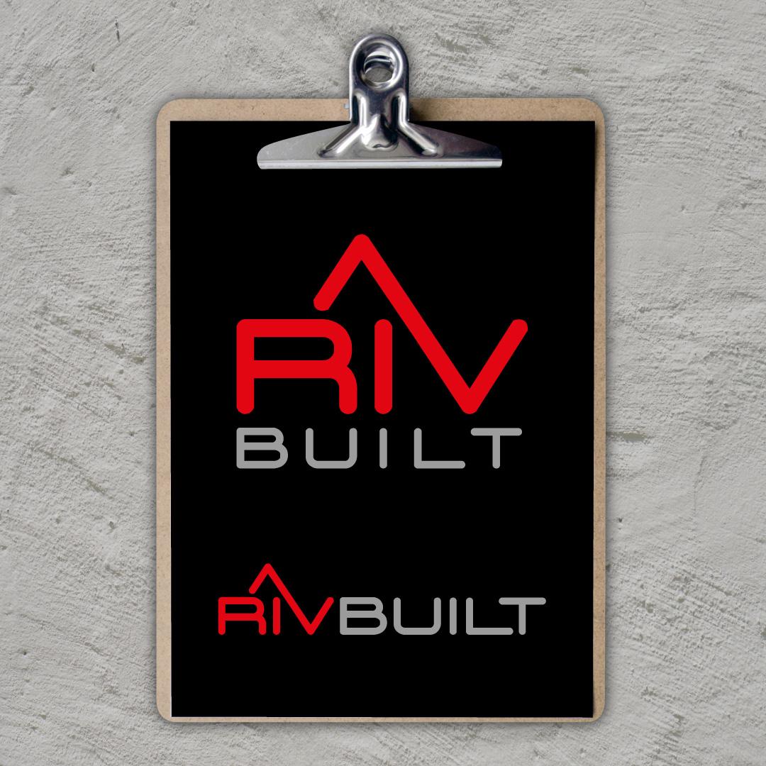 RivBuilt logo design