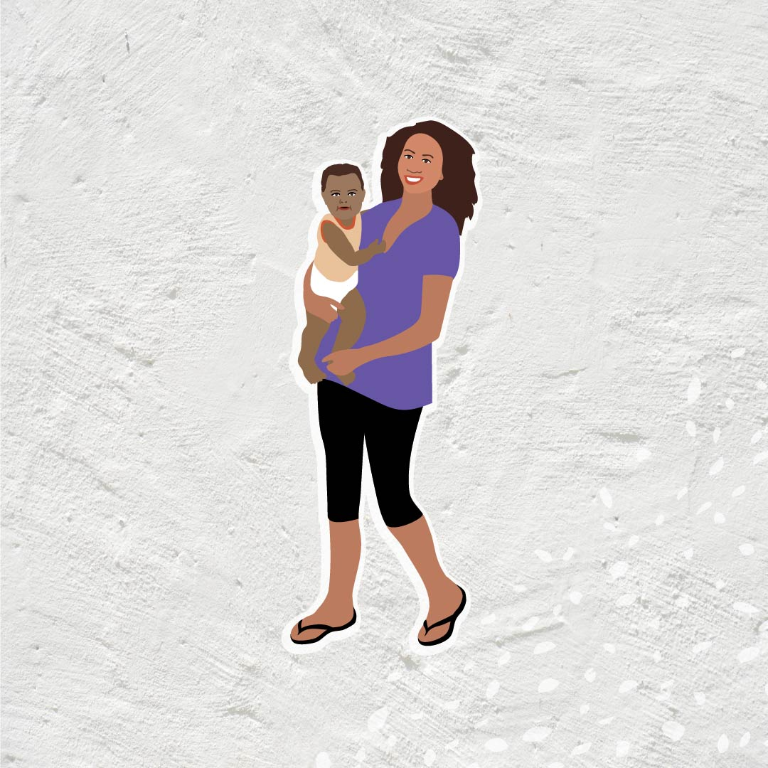 Danila Dilba Aboriginal mother and baby illustration