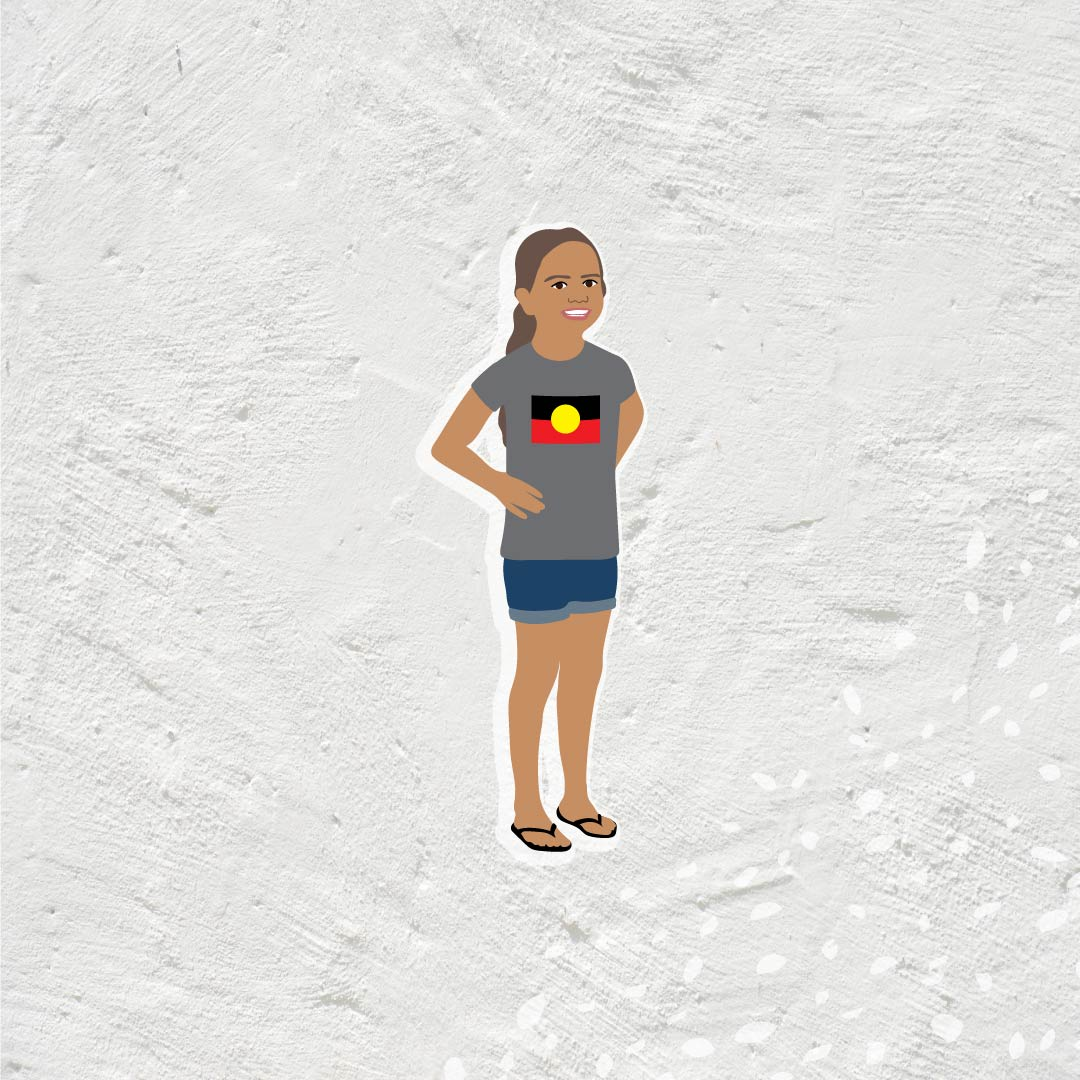 Danila Dilba Aboriginal child illustration
