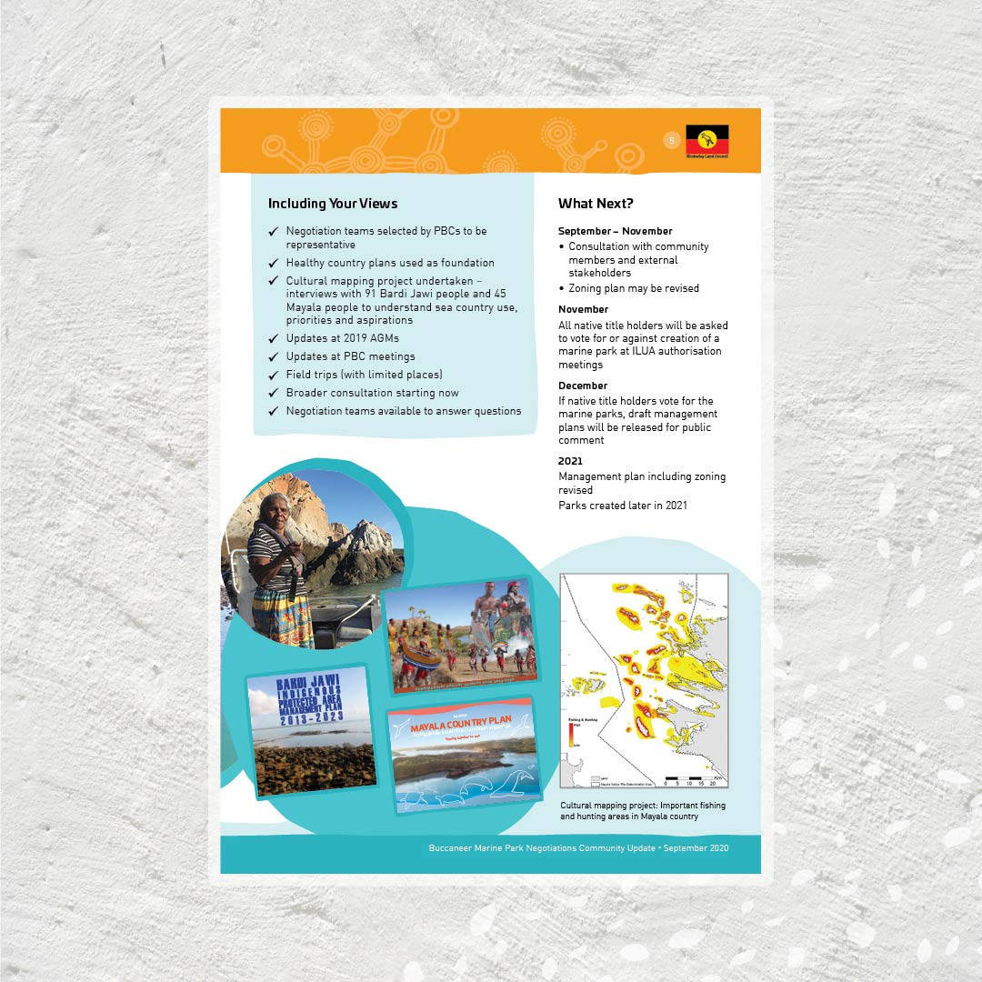 Kimberley Land Council BAMP newsletter design