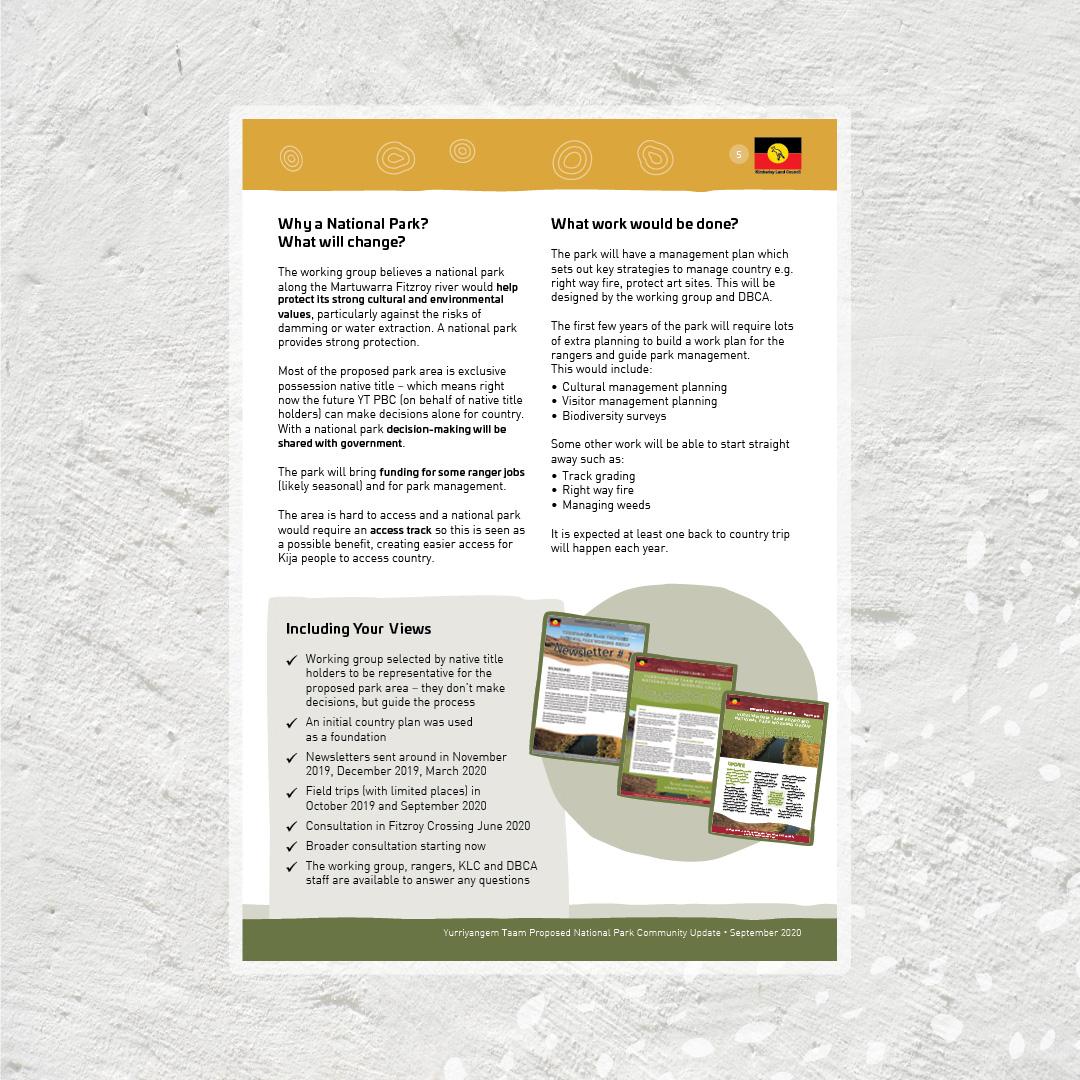 Kimberley Land Council YT newsletter design