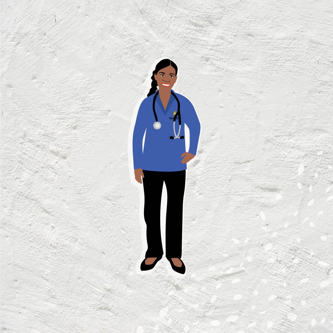 Danila Dilba Aboriginal female worker illustration