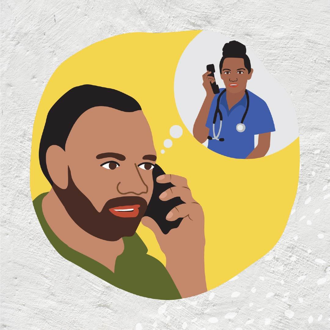 Danila Dilba covid safe check in with health services