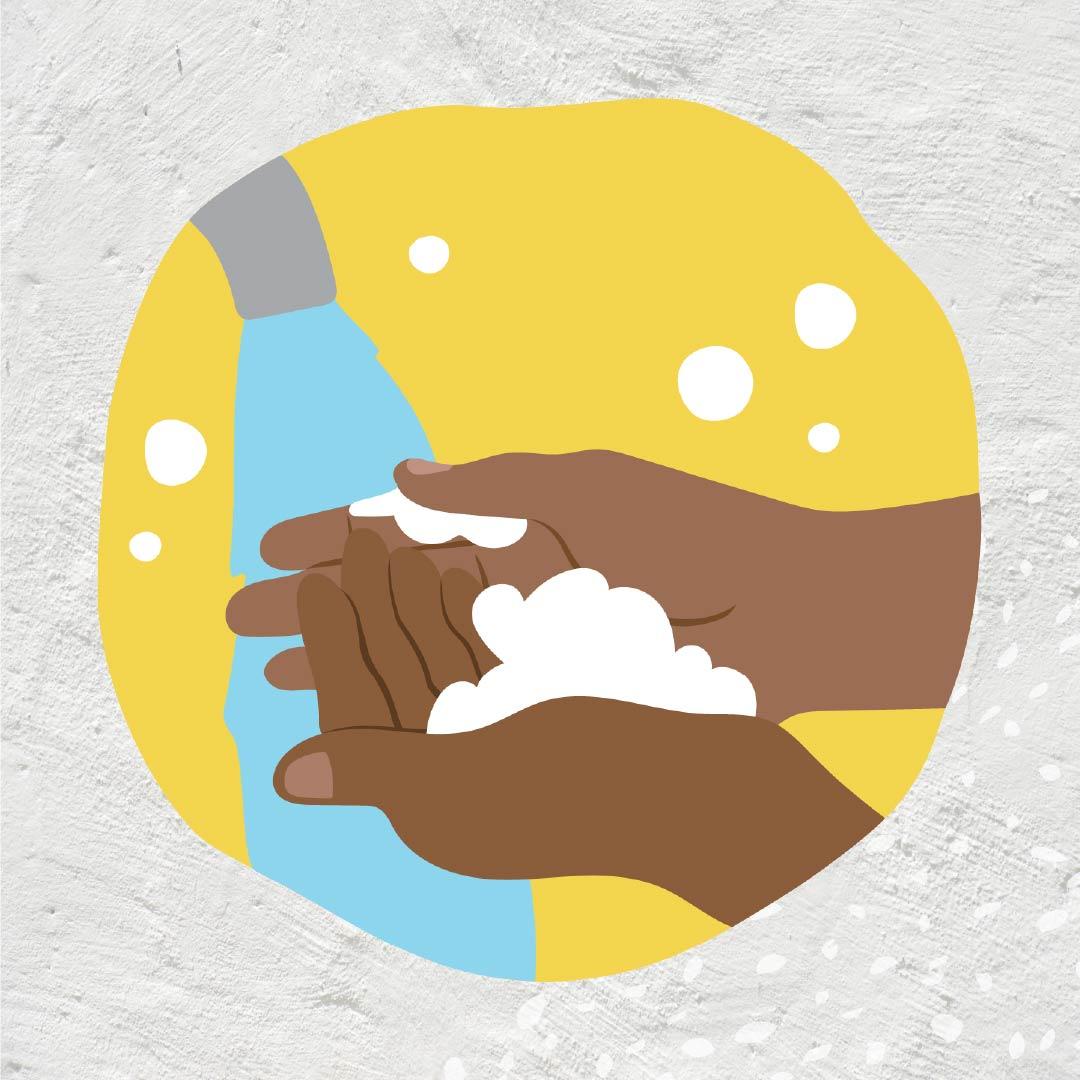 Danila Dilba covid safe wash hands