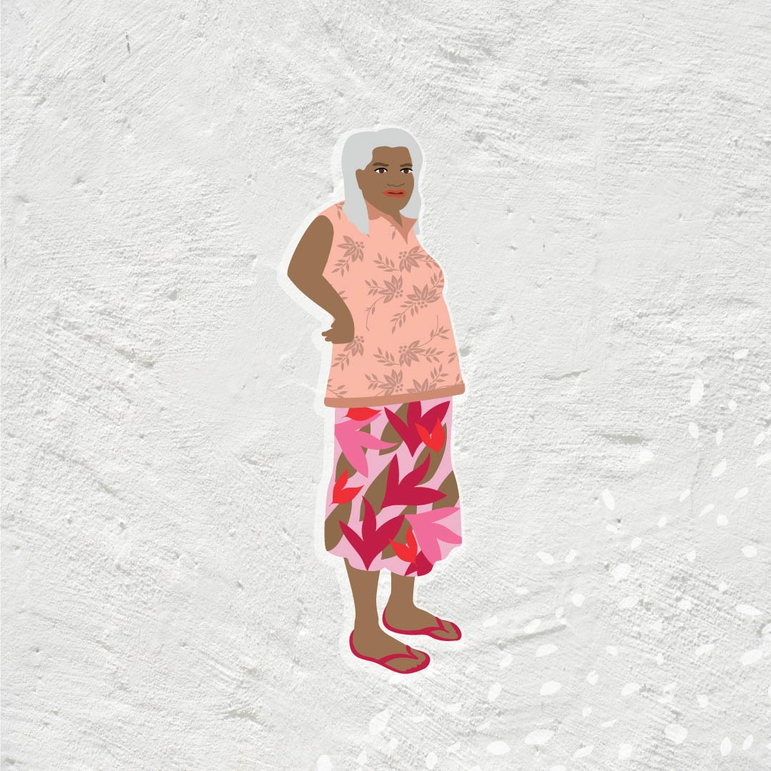 Danila Dilba Aboriginal female elder illustration