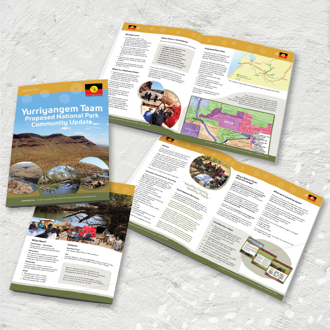Kimberley Land Council YT newsletter design