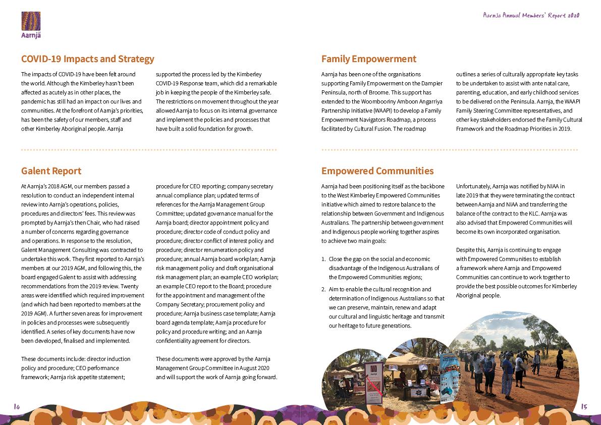 Aarnja Annual Report 2020