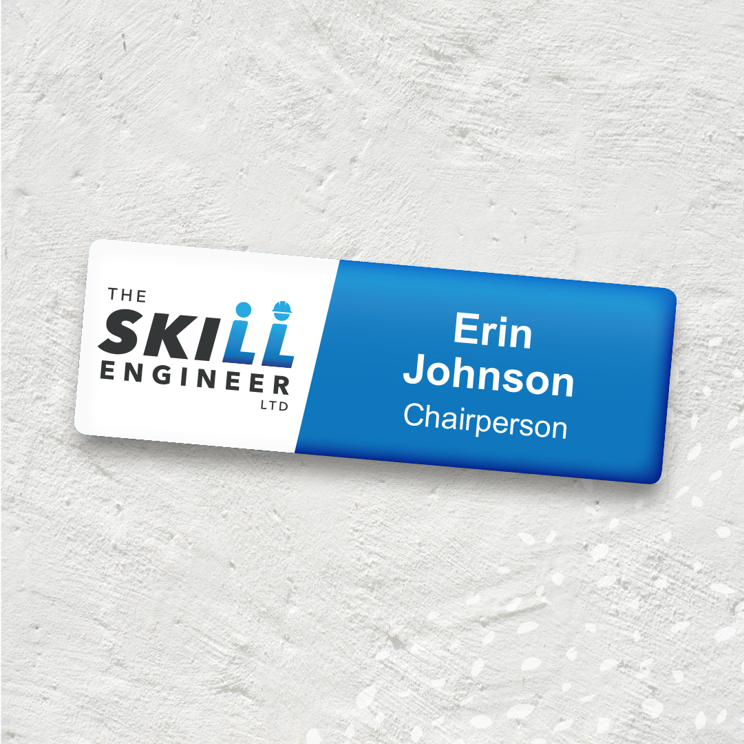 The Skill Engineer name badge